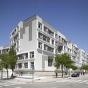 Barajas Social Housing Blocks / EMBT. Image © Roland Halbe