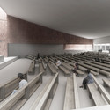 Church Interior. Image Courtesy of PWFERRETTO / ESOU Architects