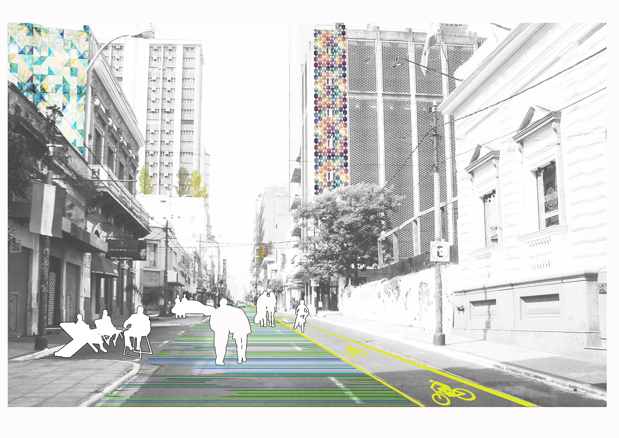 Recreación gráfica del corredor ecológico: Paso #1. Image © Ecosistema Urbano