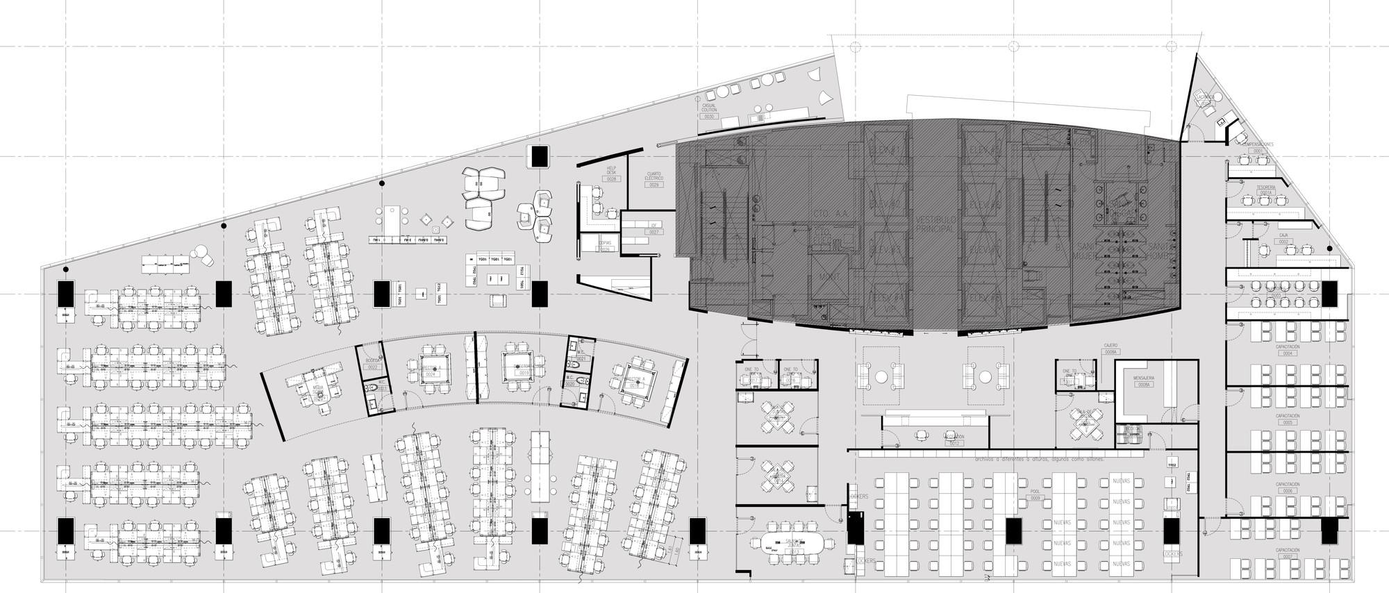 Gallery of grupo cp space 44 for Oficinas planta arquitectonica