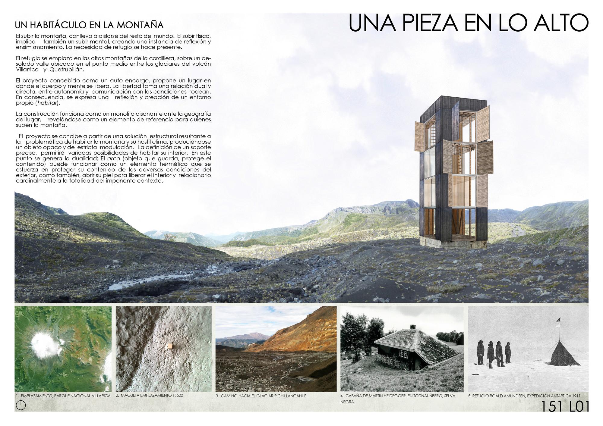 Mención Honrosa: Una pieza en lo alto. Image Courtesy of Nicolás Moraga Herrera