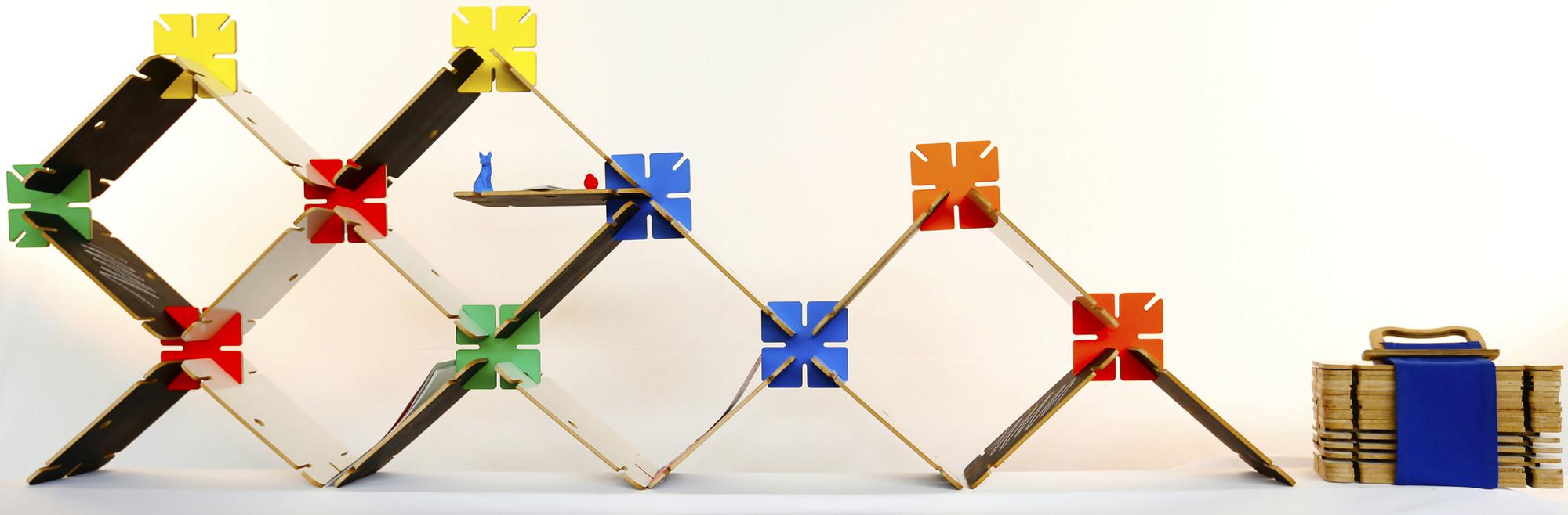 Ganadores Concurso Masisa: 10 muebles modulares y versátiles para la vida actual, Benoit / Daniel Veloso, Tatiana Jorquera y Camila Fernandez. Image Courtesy of Masisa