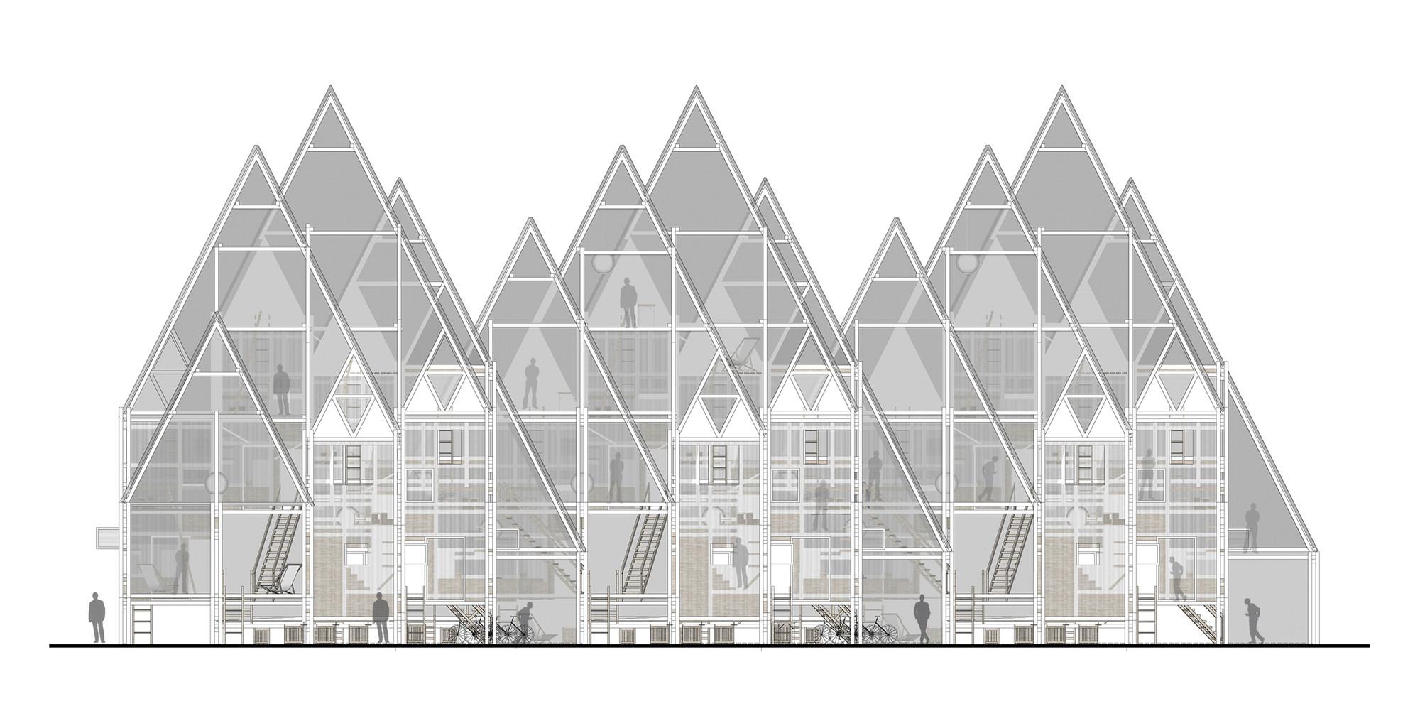RVPE / Residencias verticales para estudiantes en Concepción, por República Portátil, Elevación