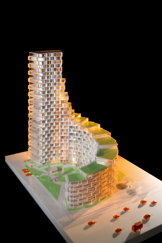 3XN construirá torre residencial de 95 metros en Dinamarca, Cortesía de Adam Mørk/3XN