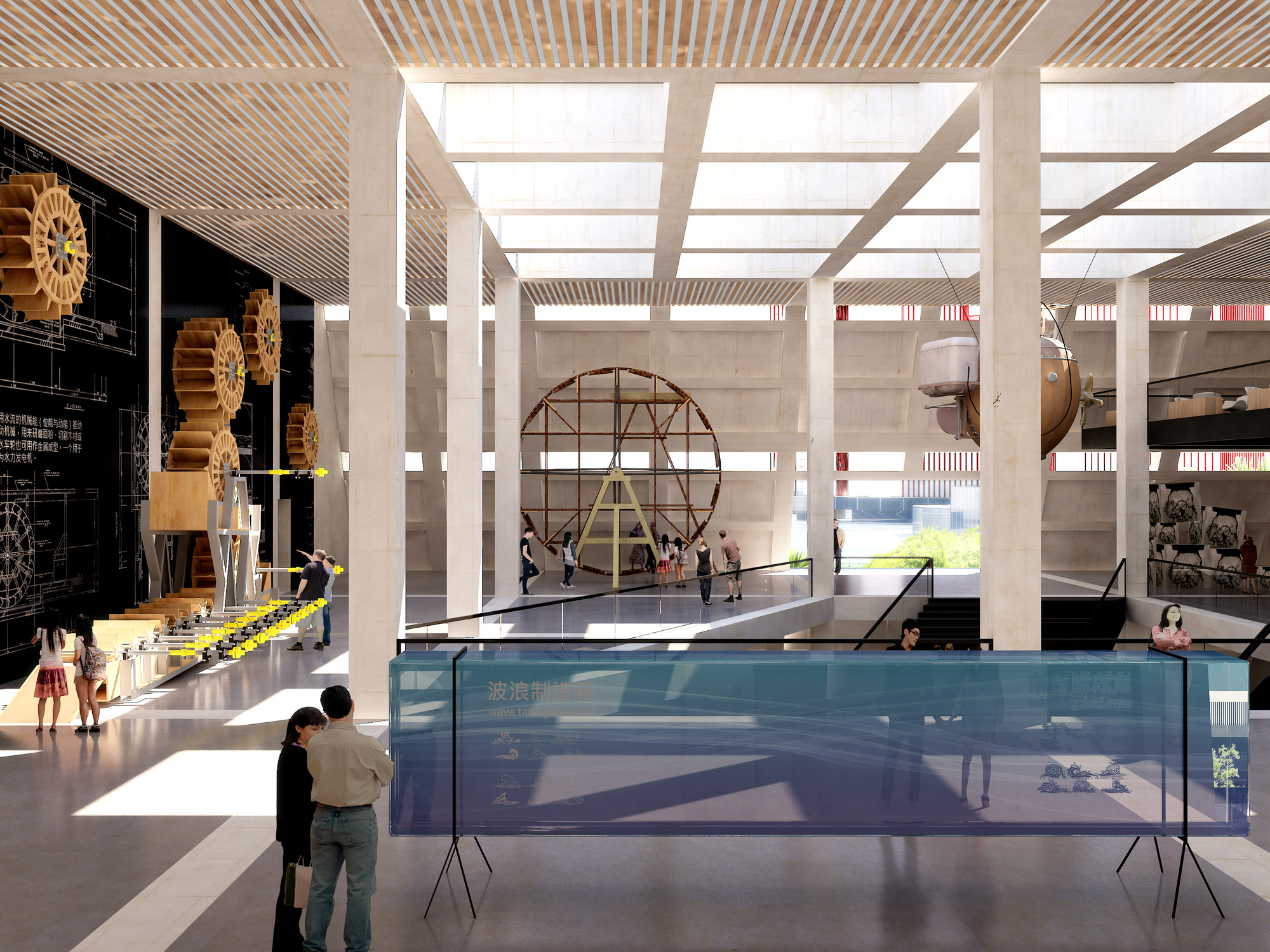 Exhibition Space. Image Courtesy of Mecanoo / Doug and Wolf