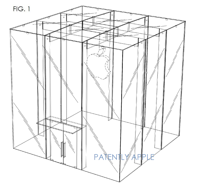 A diagram indicating the elements of the design which are covered by the patent. Image © Apple via PatentlyApple.com