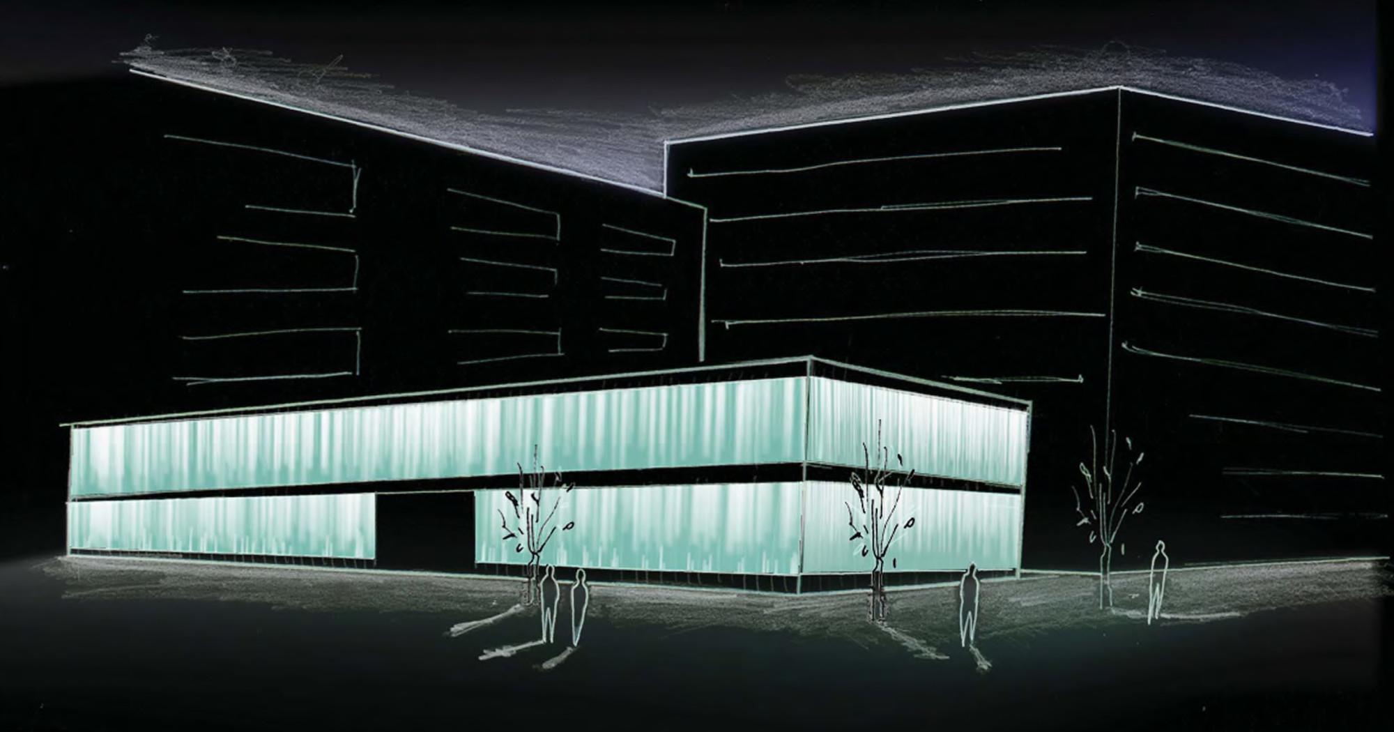 Galeria De Projeto De Ilumina 231 227 O Fachada Da Roca