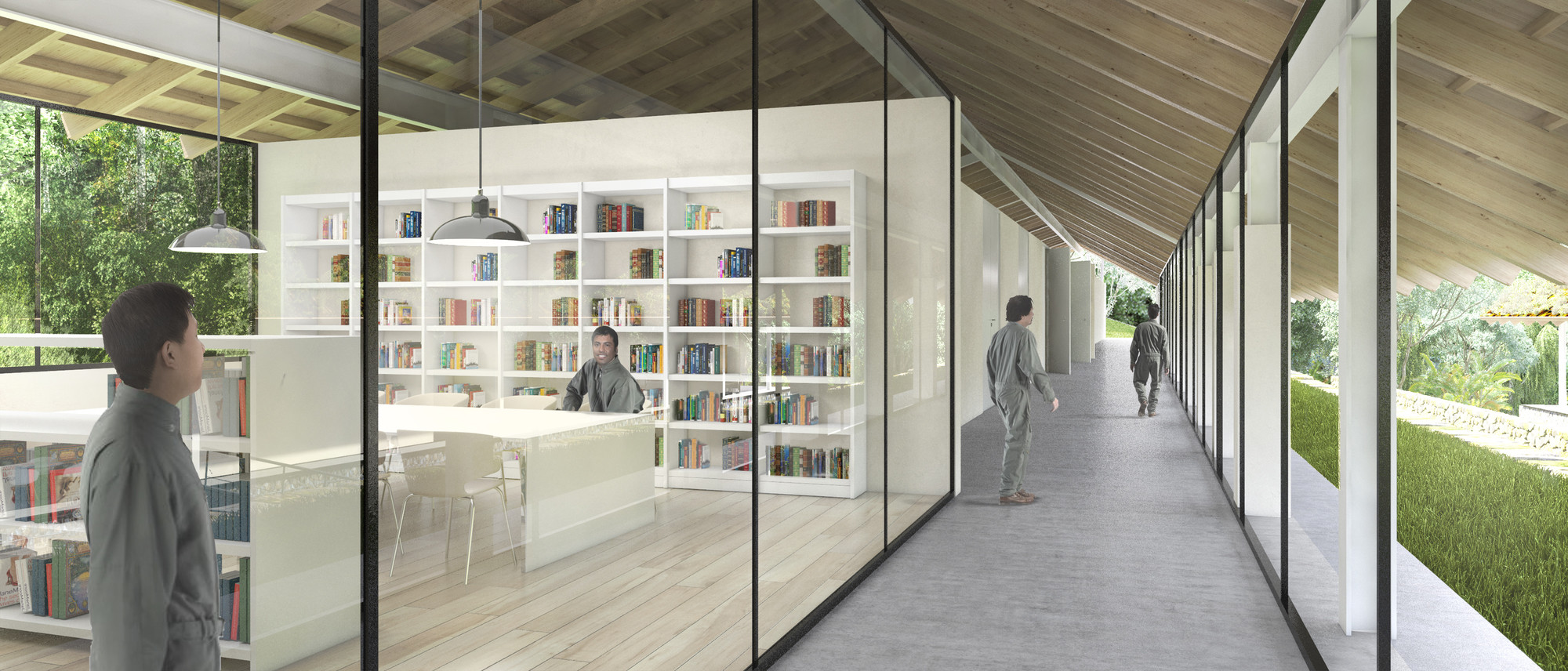 Centro de investigación. Image Courtesy of Canziani-Román-Bauer Arquitectos