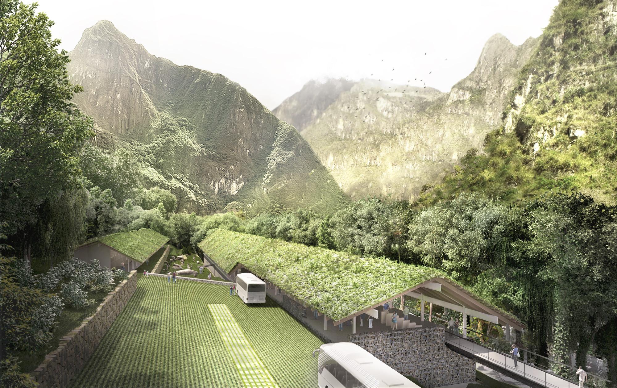 Segundo Lugar en concurso de ideas para futuras intervenciones en Machu Picchu / Perú, Acceso. Image Courtesy of Canziani-Román-Bauer Arquitectos