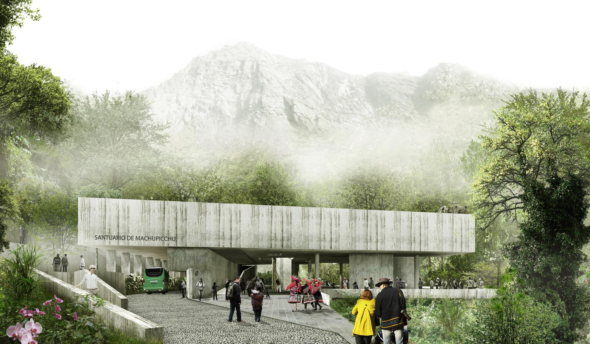 Tercer Lugar en concurso de ideas para futuras intervenciones en Machu Picchu / Perú, Vista principal. Image Courtesy of Llosa & Cortegana + TARATA + Cotidiano