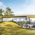 Concept design for Earth Pavilion. Image © Olson Kundig Architects