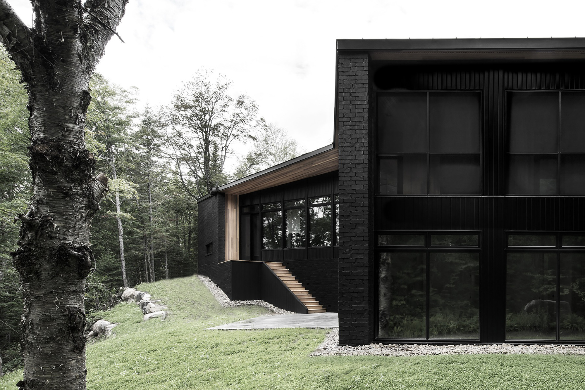 Screen house alain carle architecte archdaily for Finition exterieur