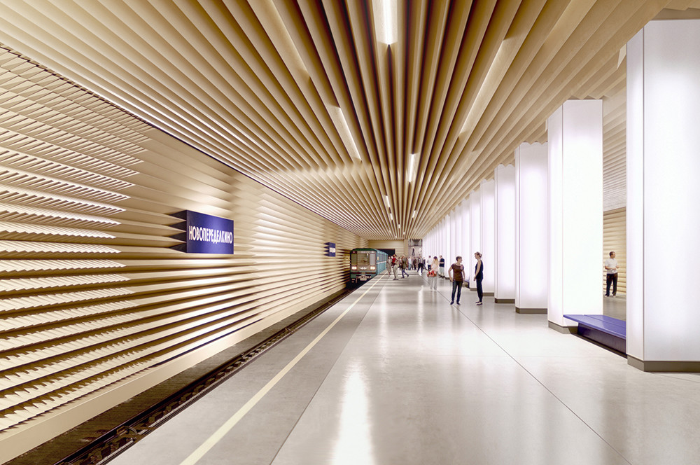 Anuncian finalistas para diseñar estación de Metro en Moscú, Propuesta para estación Novoperedelkino por Variant Studio. Imagen © Palast Architekts