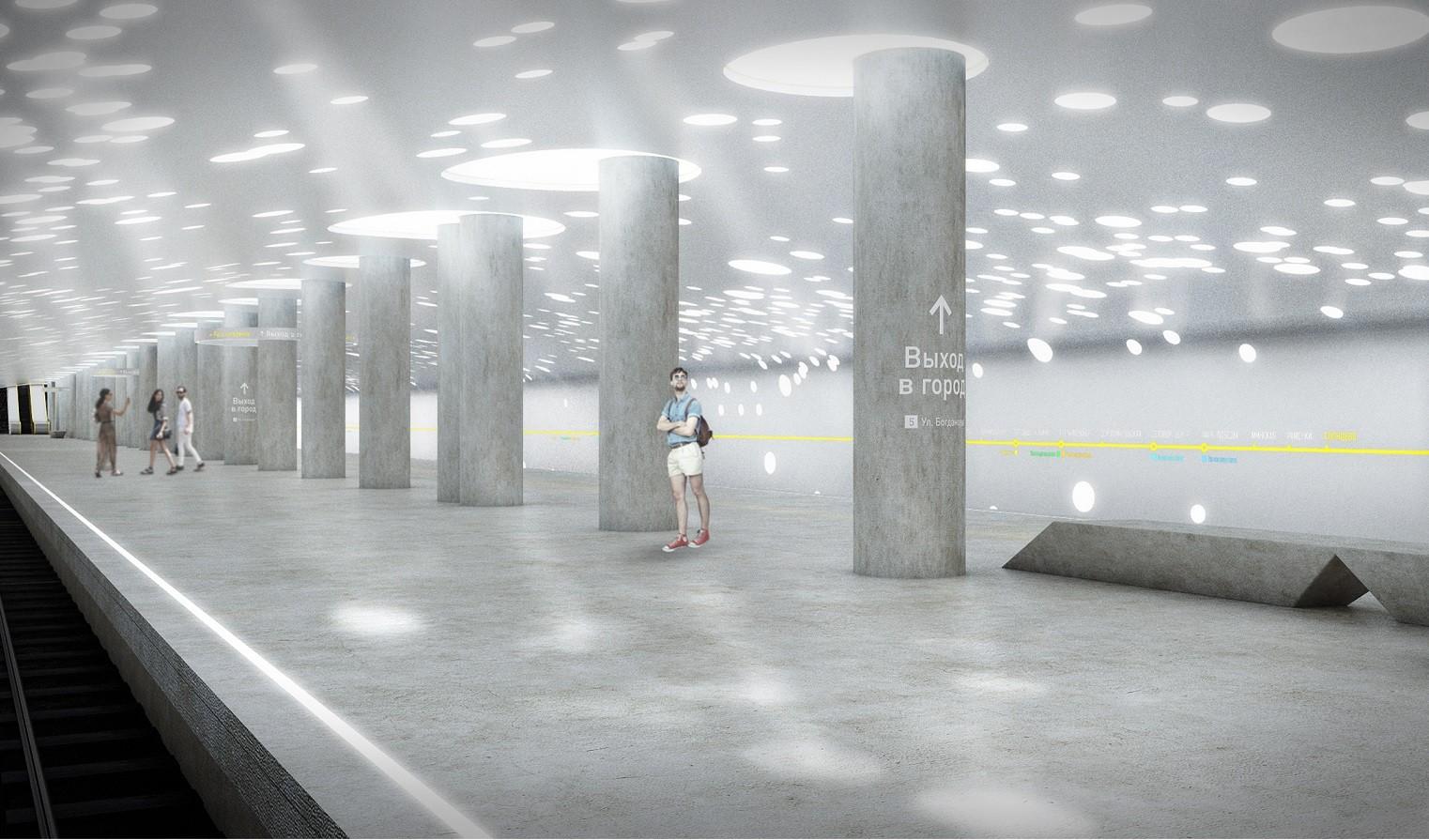 Propuesta para estación Solntsevo por NEFA ARCHITECTS [NEFARESEARCH]. Imagen © NEFARESEARCH
