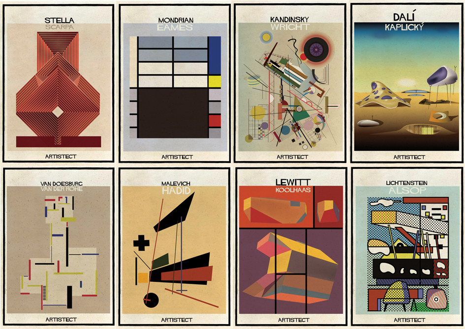 ARTISTECT: Famous Paintings With An Architectural Twist, Federico Babina's latest series: ARTISTECT