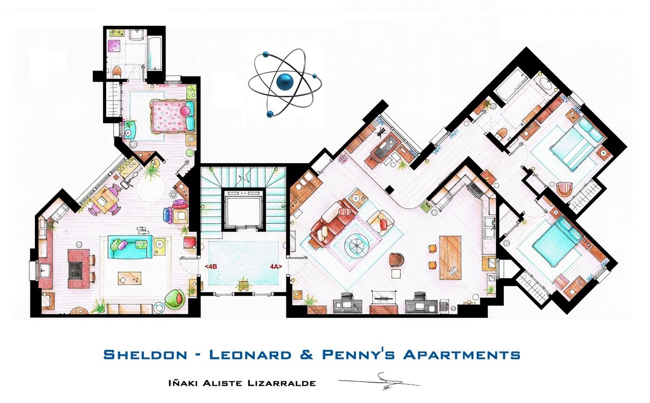 Friends to frasier 13 famous tv shows rendered in plan archdaily
