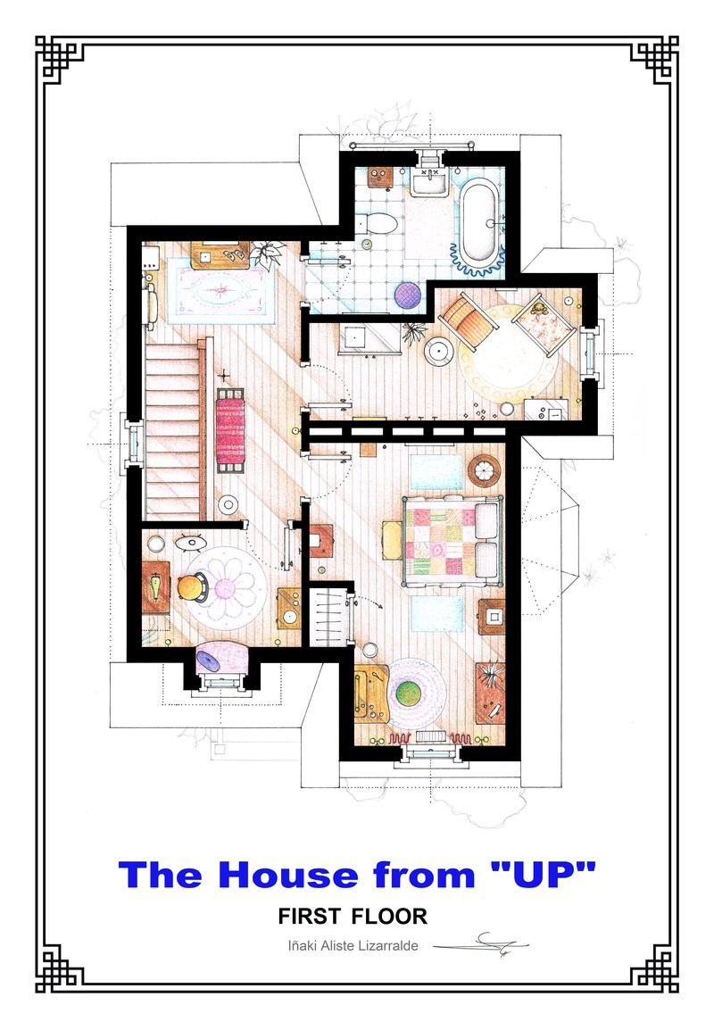 Gallery of from friends to frasier 13 famous tv shows for Floor plans of famous houses