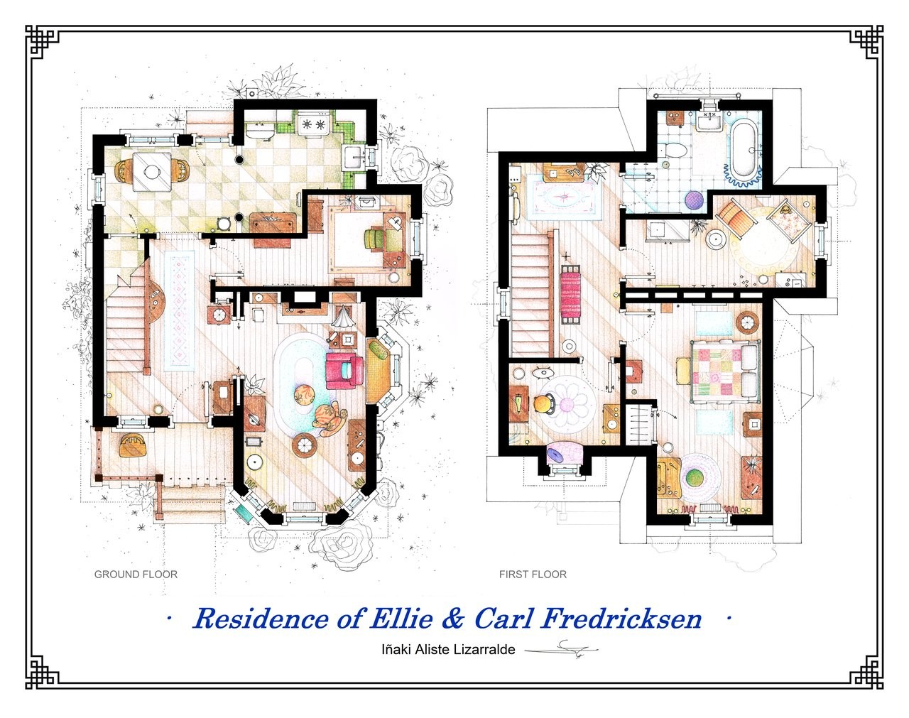 From friends to frasier 13 famous tv shows rendered in plan archdaily - Interior plan de campagne ...