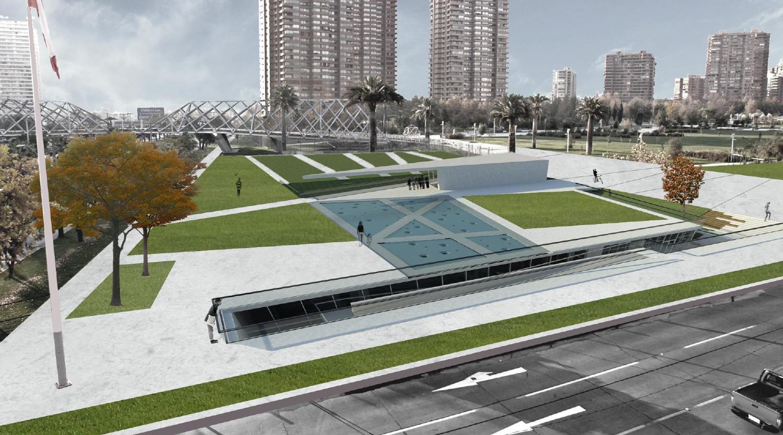 Parque Juan Pablo II: Segundo Lugar. Image Courtesy of Municipalidad Las Condes