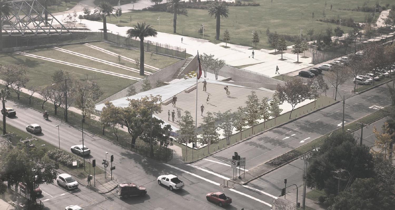 Parque Juan Pablo II: Tercer Lugar. Image Courtesy of Municipalidad Las Condes