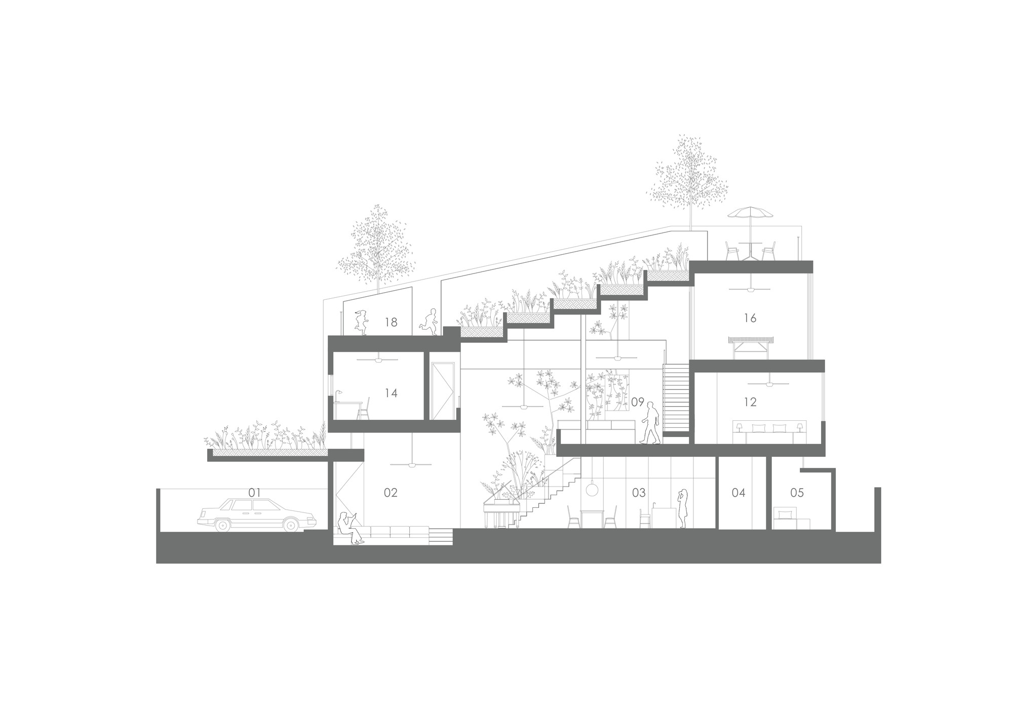 Gallery of terrace house formwerkz architects 15 for Season 2 terrace house