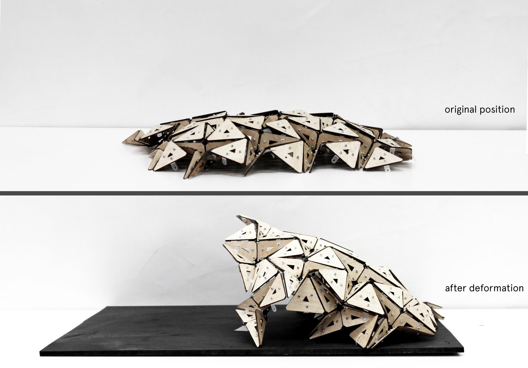 Deformación Prototipo. Image Cortesia de © IaaC (Instituto de Aquitectura Avanzada de Catalunya) / Ece Tankal, Efilena Baseta, Ramin Shambayati