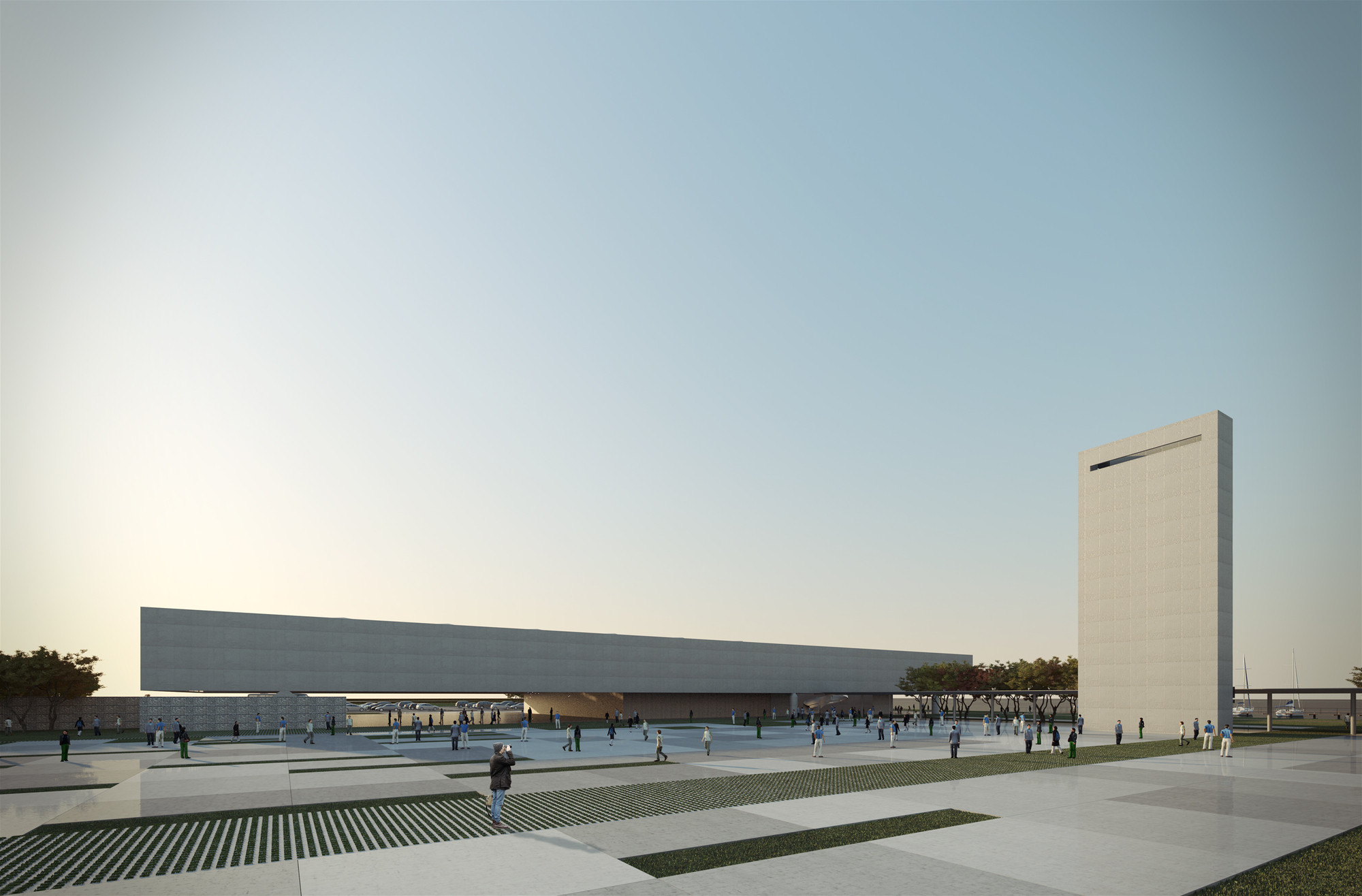 Proposta vencedora para o Centro Cultural de Eventos e Exposições em Cabo Frio. Courtesy of Estúdio 41