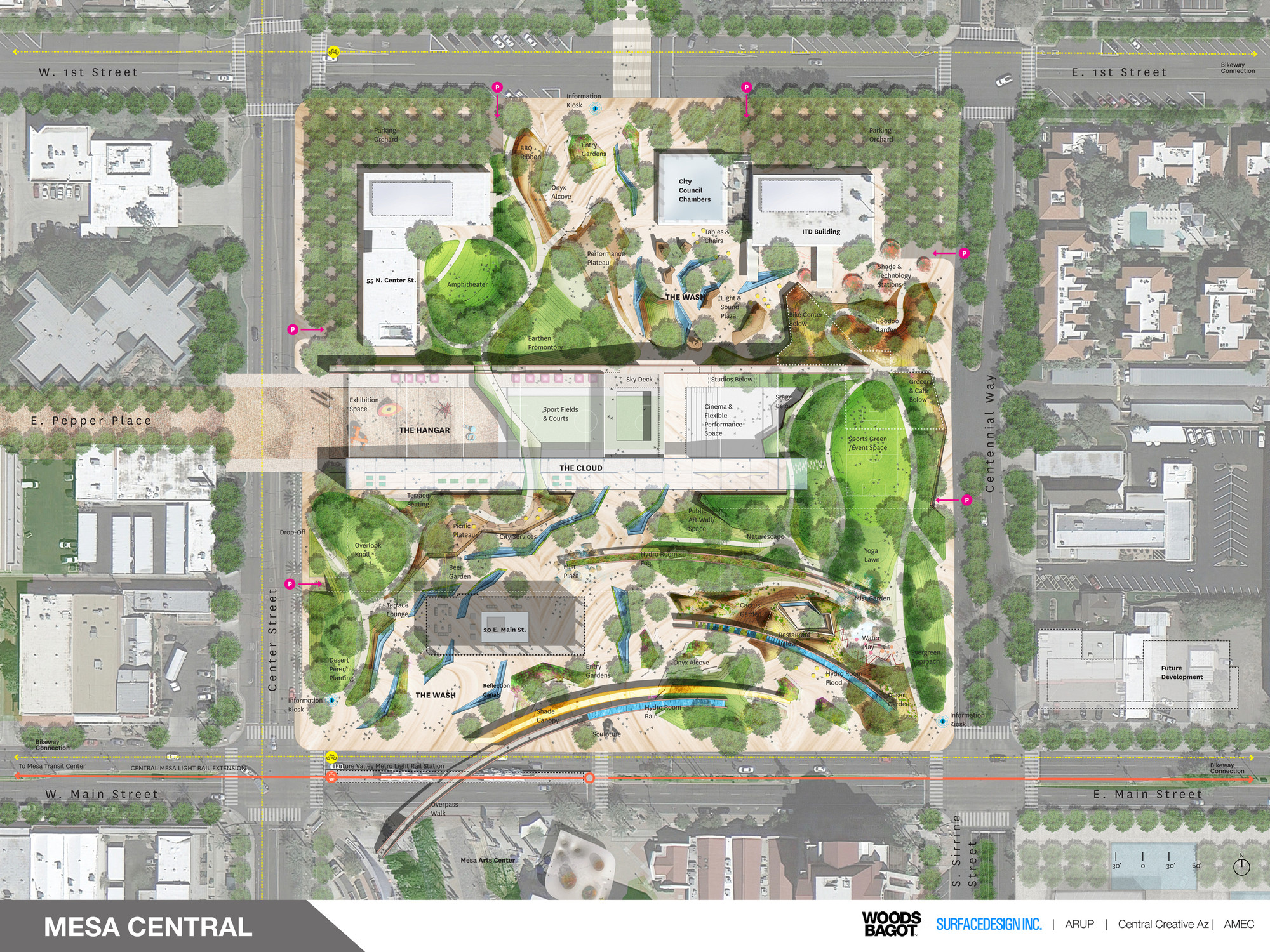 Gallery of final design concepts unveiled for arizona s for Mesa landscape architects