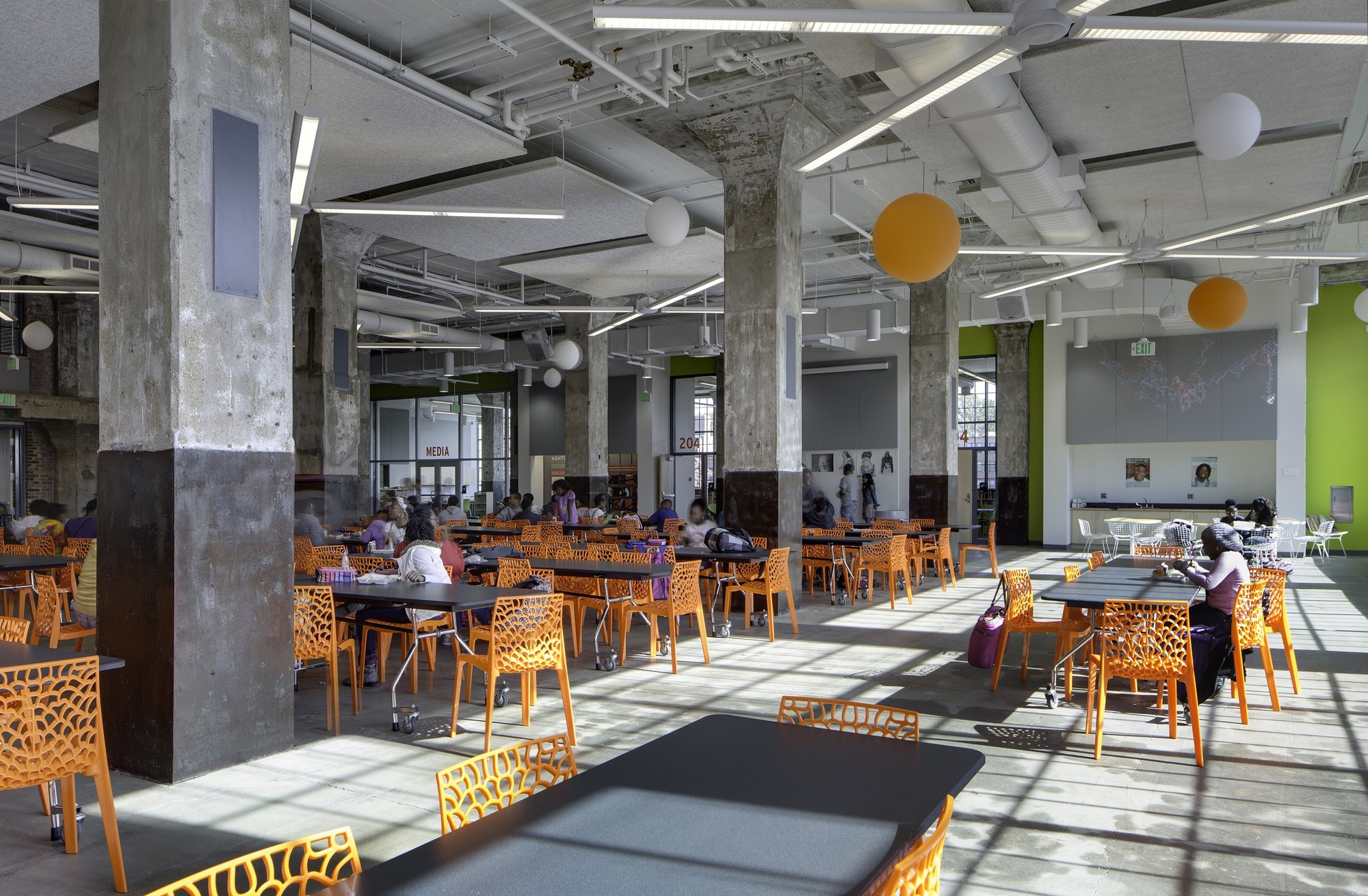 baltimore architecture cafeteria google projects award cool educational room interior excellence aia multipurpose snead architects archdaily schools connolly karl lunch