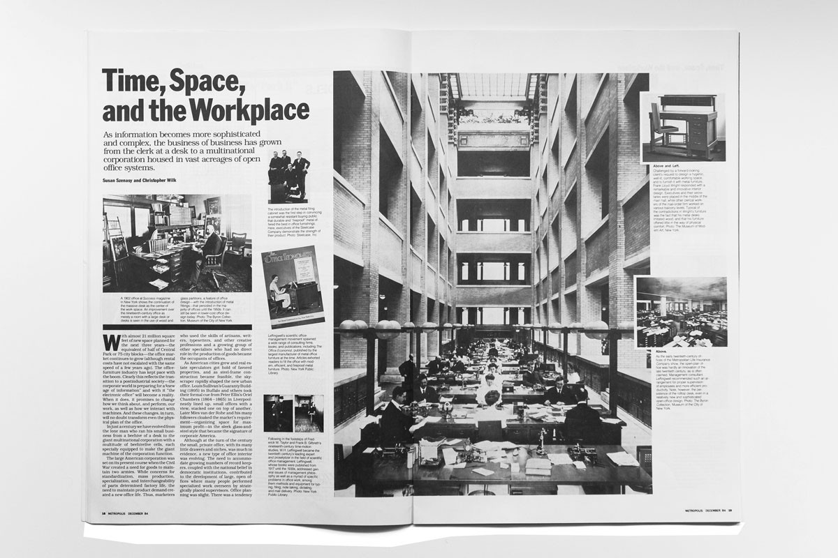 how will we design the offices of the future  1984 a prescient historic essay written by susan s szenasy and christopher wilk