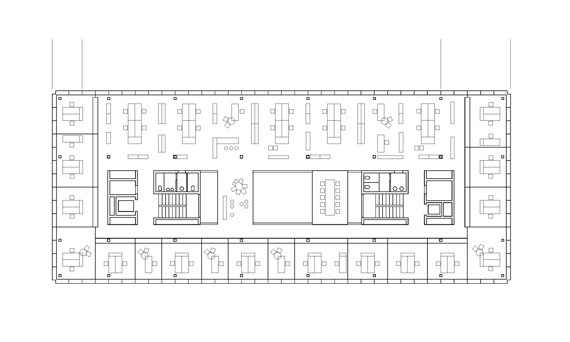 Image gallery office building floor plans for Office layout plan design