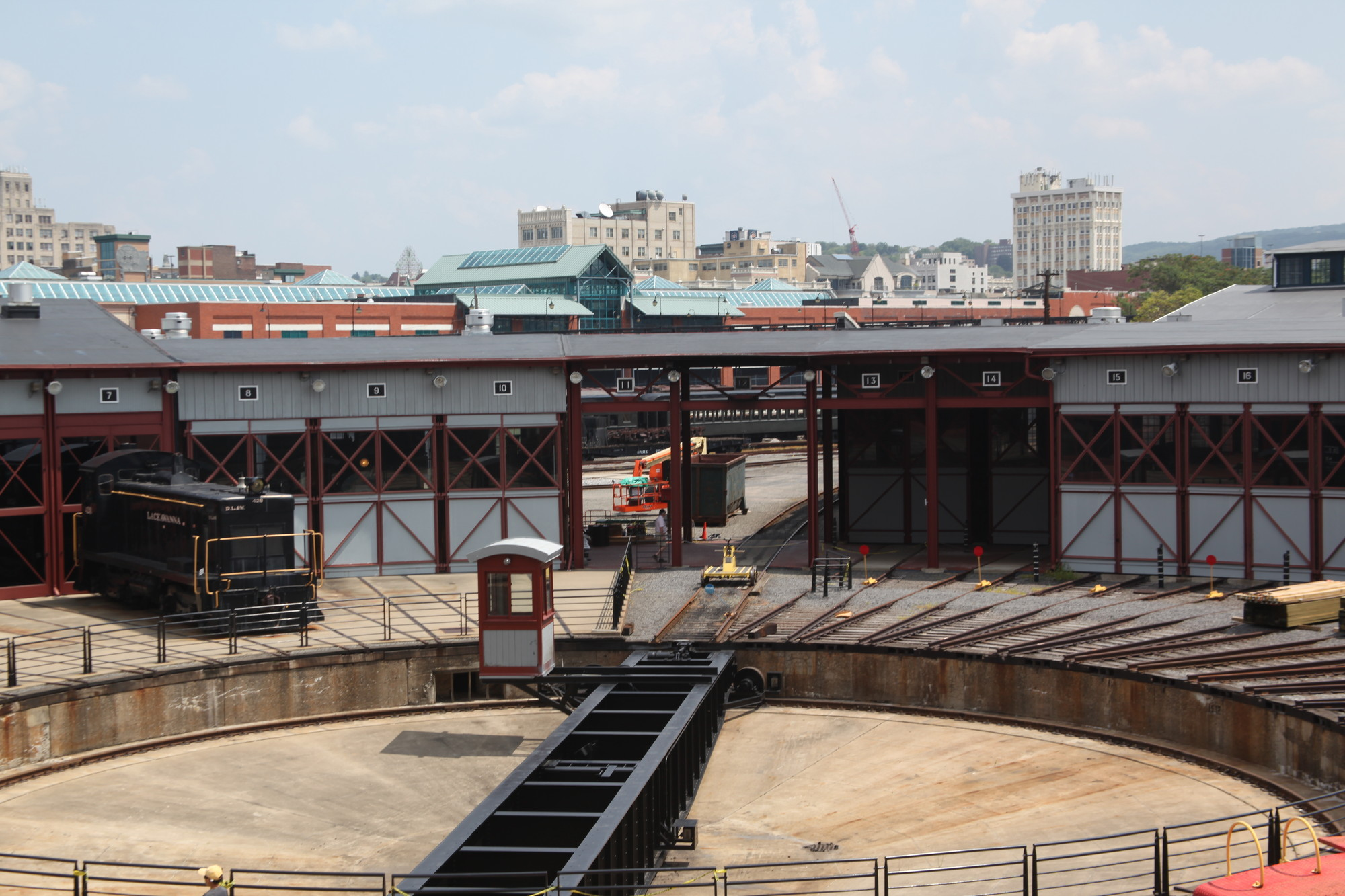 Roundhouse and turntable, Steamtown National Historic Site, Scranton, PA. Image Courtesy of The Van Alen Institute
