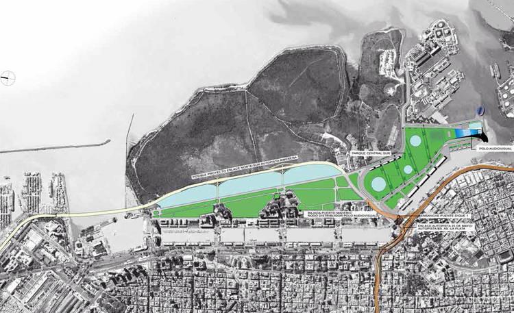 Propuesta de integración urbana en Puerto Madero. Image © Fan Page de Cristina Fernández de Kirchner