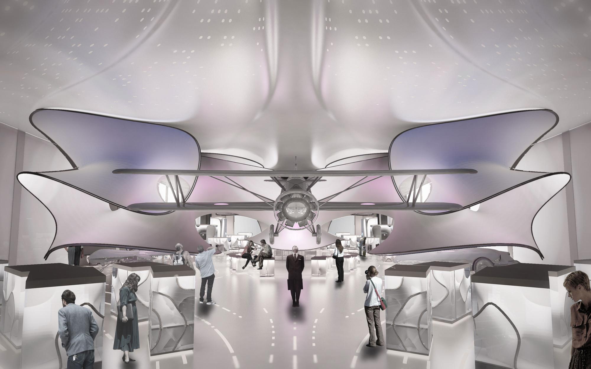 Zaha Hadid diseñará nueva galería de matemáticas en Museo de Ciencias de Londres, Vista desde el acceso de la galería este. Imagen © ZHA