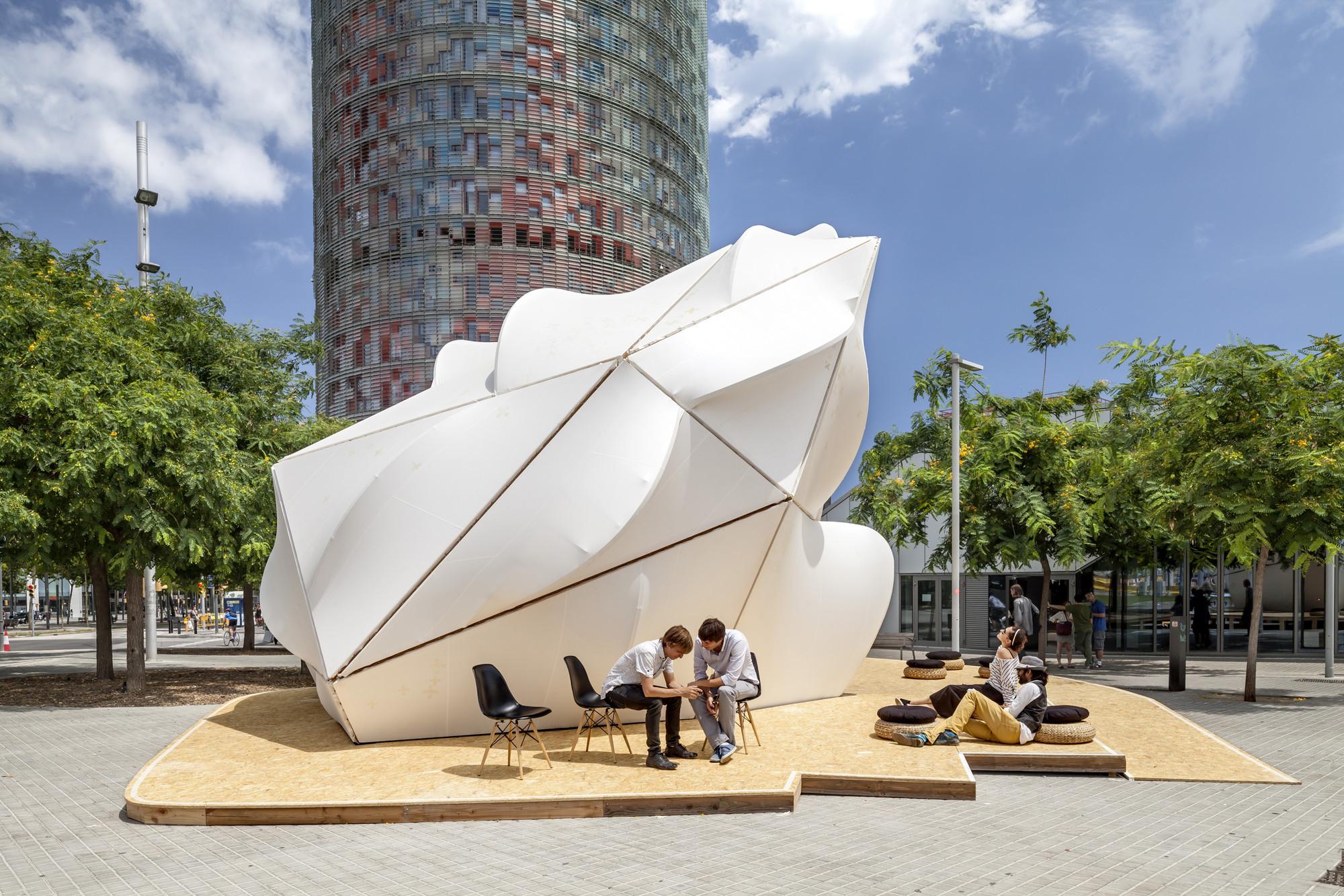 طراحی سازه پارامتریک در منظر شهری بارسلونا