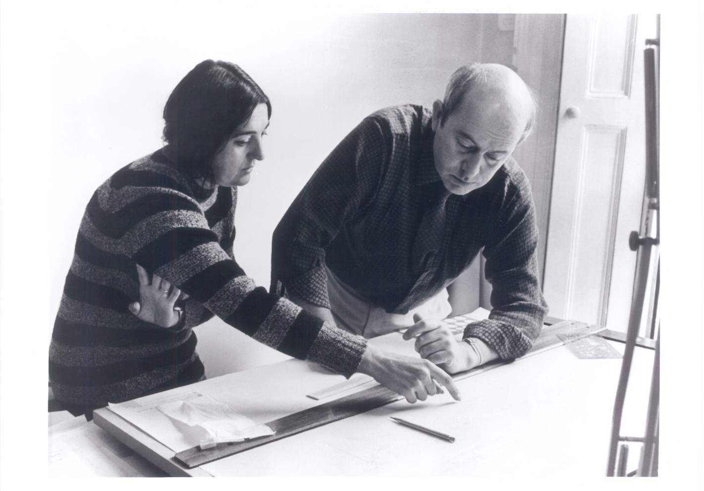 Peter Smithson, en perspectiva, Alison and Peter Smithson (year unknown)