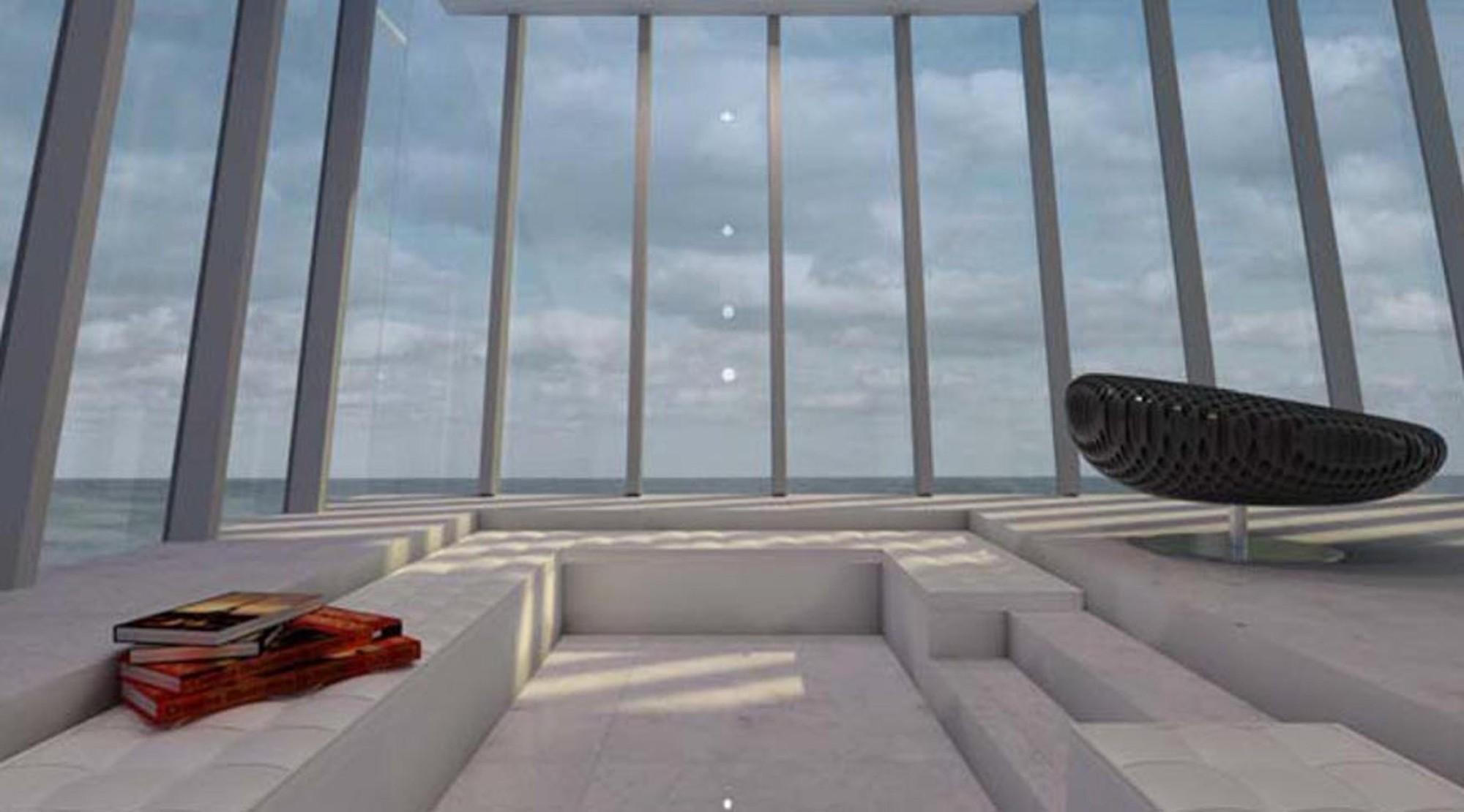 Interior de la sala de estar. Imágen cortesía de Modscape