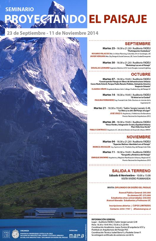 """Seminario """"Proyectando el paisaje"""" / Santiago, Chile"""