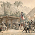 """""""Una chingana"""" en 'Atlas de la historia física y política de Chile'. Image © Claudio Gay"""