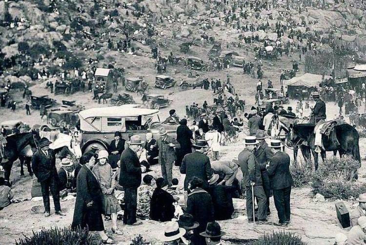 Celebración de Fiestas Patrias en la Pampilla de Coquimbo en el año 1930. Image © Fan Page de 'Fotos históricas de Chile