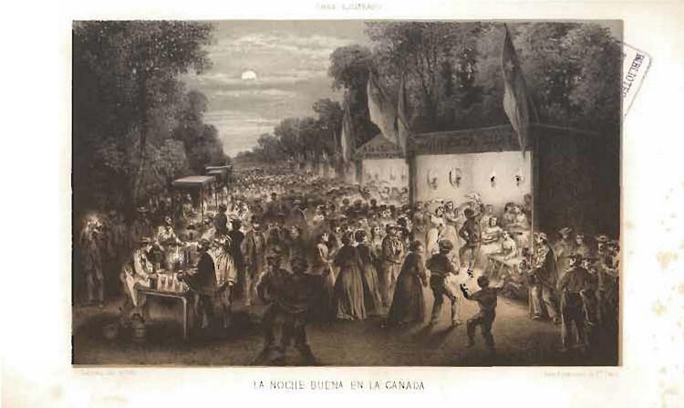 """""""La Noche Buena en La Cañada"""", actual Alameda en Santiago (1872) . Image © Recaredo Tornero"""