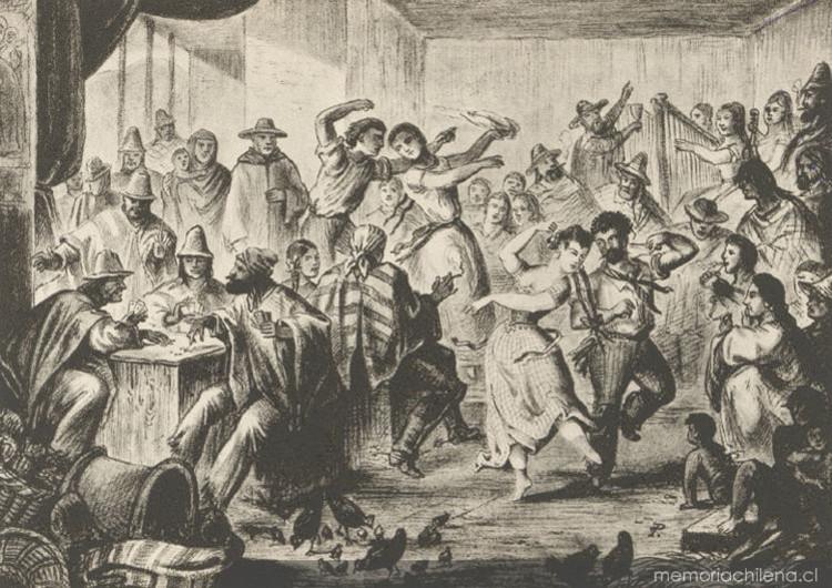 Chingana en Tres Puntas (1852). Image