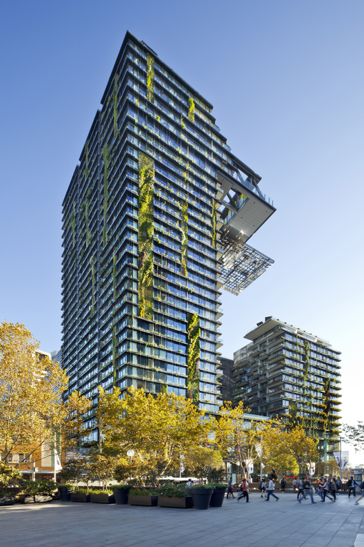 One Central Park, Sydney / Ateliers Jean Nouvel. Imágen © Simon Wood