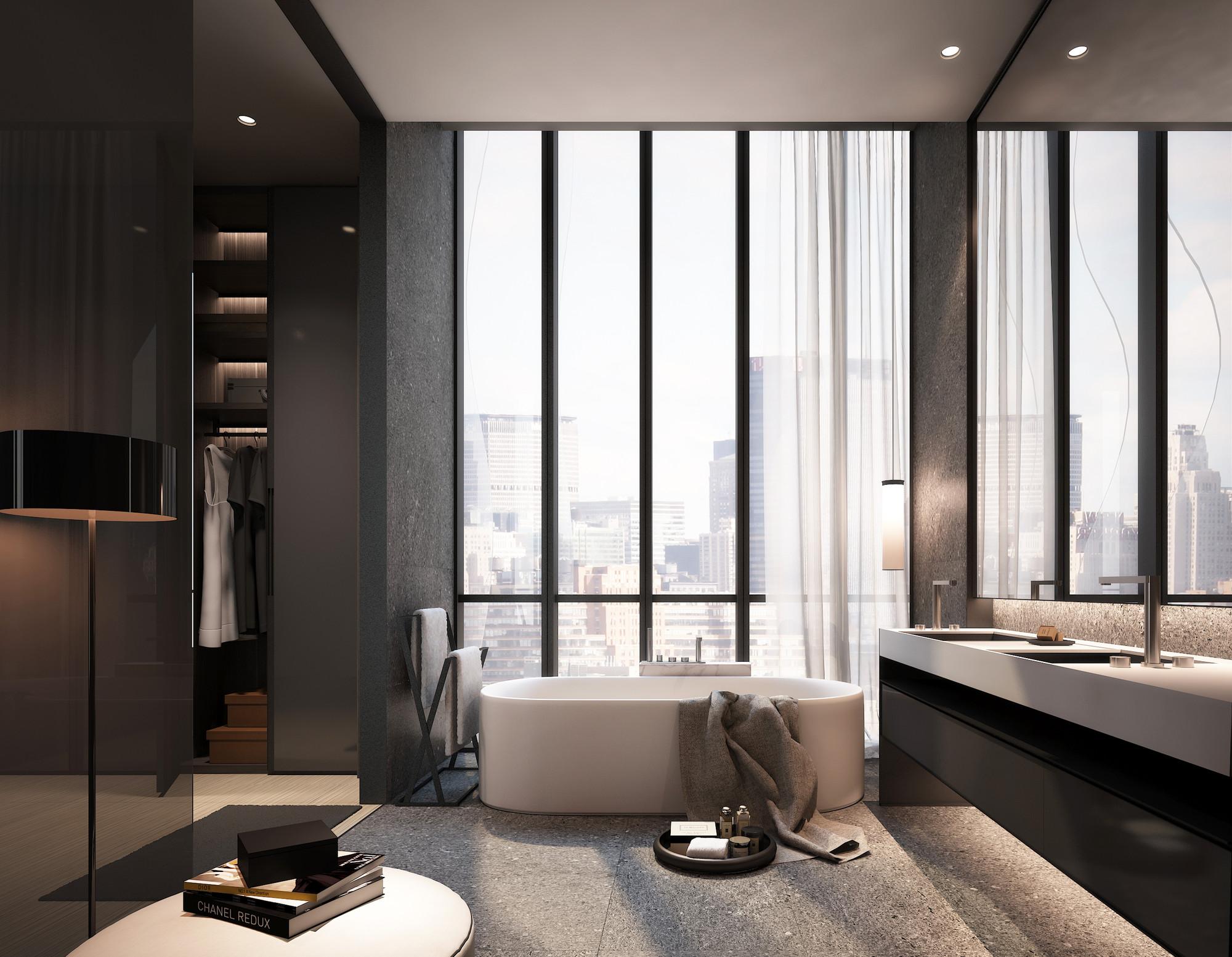 Baño. Imagen cortesía de SCDA Architects