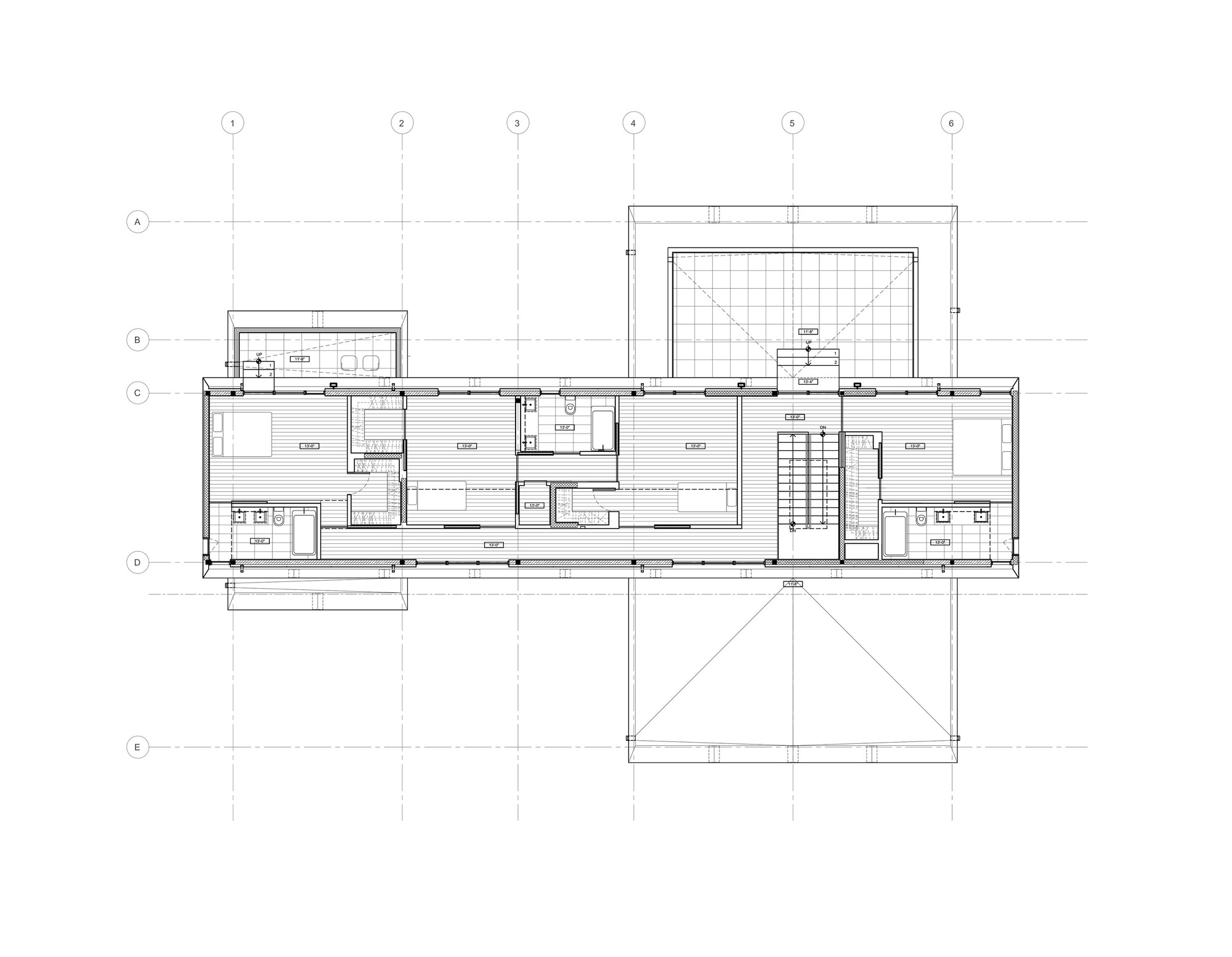 Galeria de bridge house h weler yoon architecture 23 for Mountain bridge floor plans