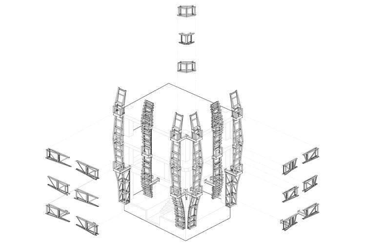 Axonométrica Explotada