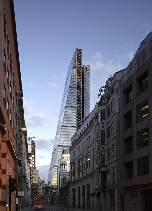 On Top of the City: Behind the Scenes at the Leadenhall Building, View of The Leadenhall Building from the East along Leadenhall Street . Image © Richard Bryant – Courtesy of British Land/Oxford Properties