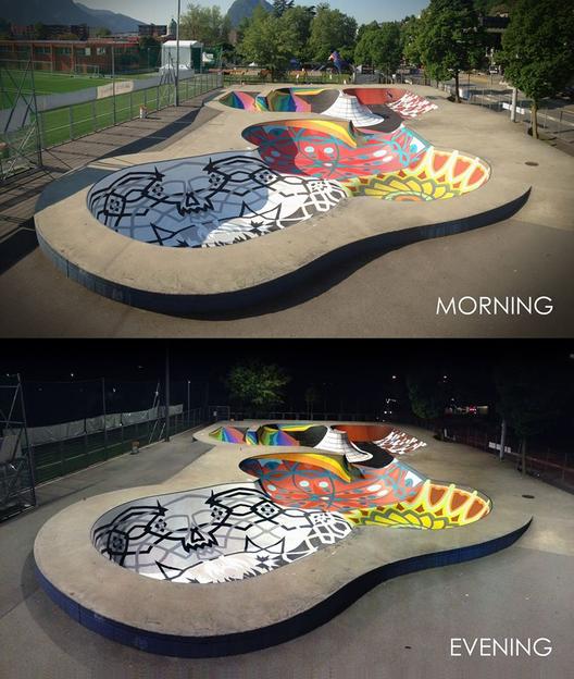 Cortesía de Skatepark Sundial en Lugano, Suiza. Fuente: Zuk Club (Facebook)