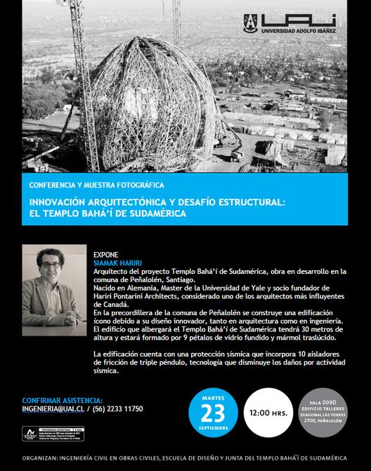 Conferencia y muestra fotográfica: Templo Bahá'í de Sudamérica / Santiago