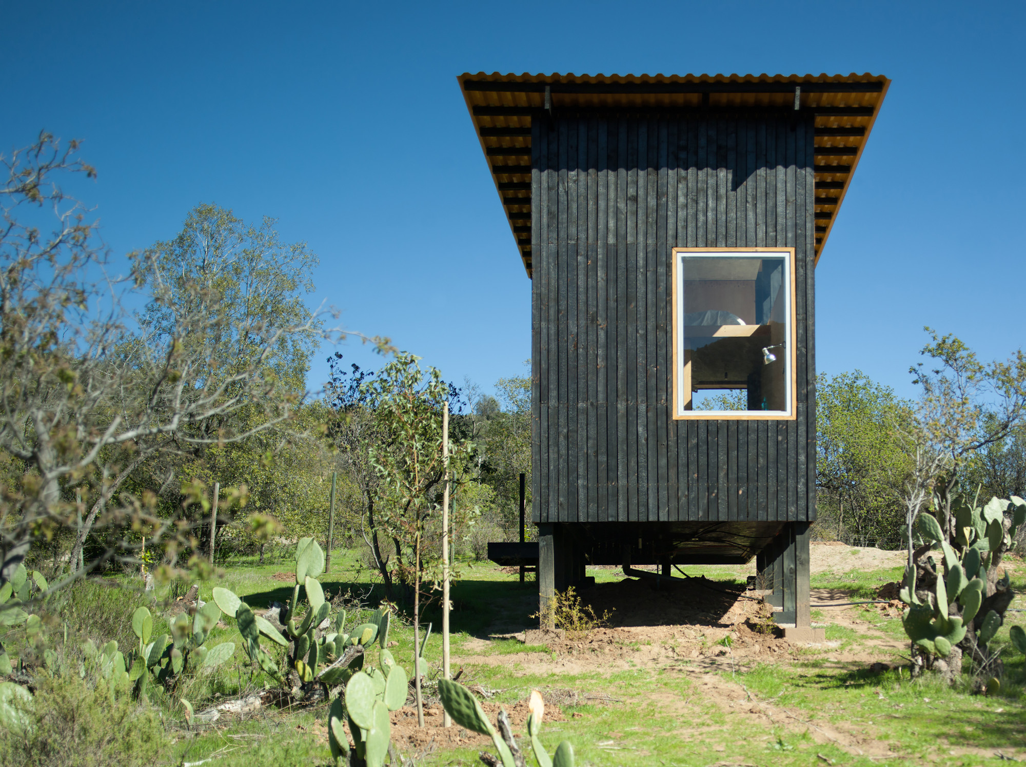 Charred Cabin / DRAA, Courtesy of Felipe Camus